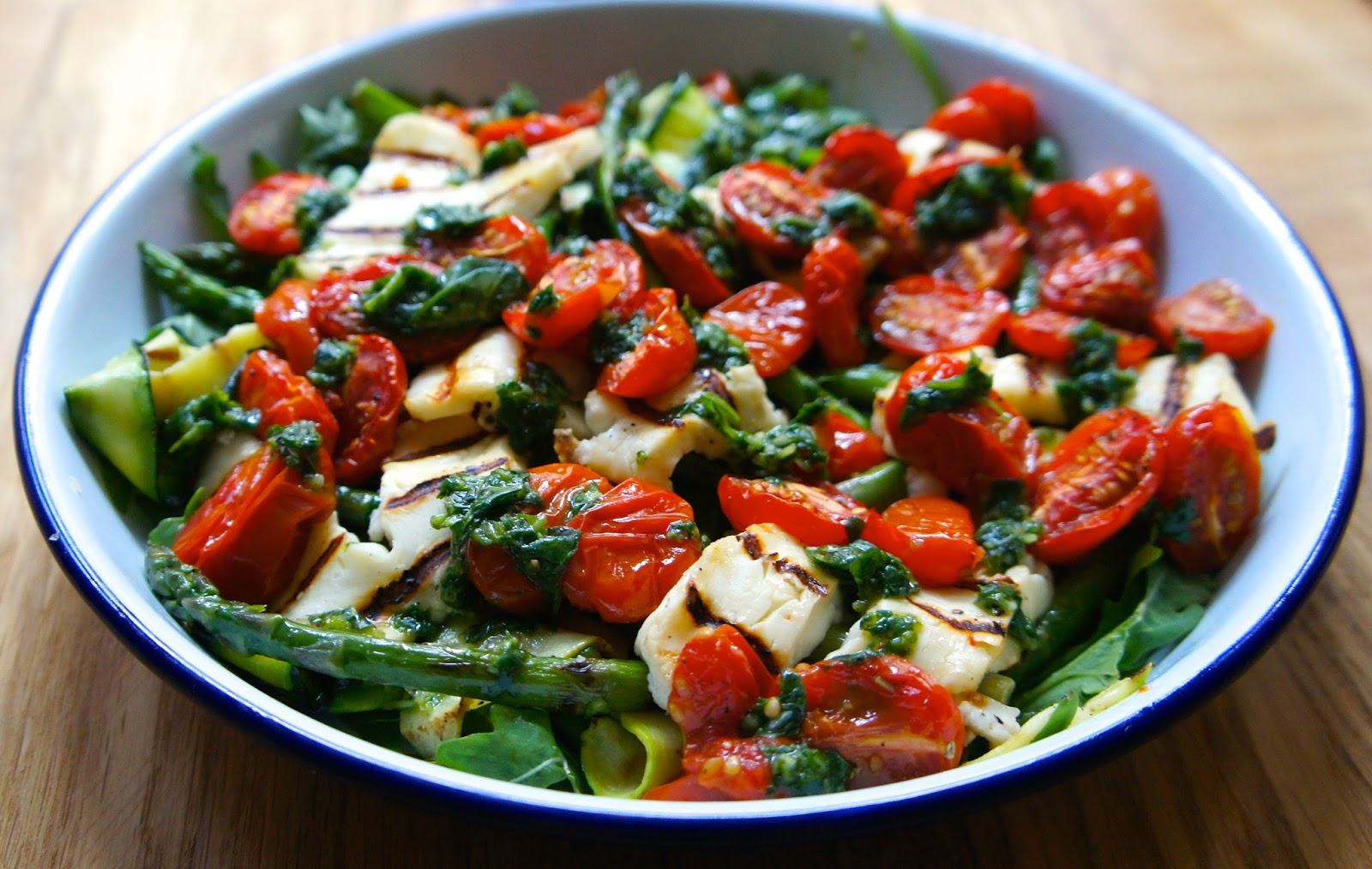 Roast courgette salad for Courgette and tomato bake bbc