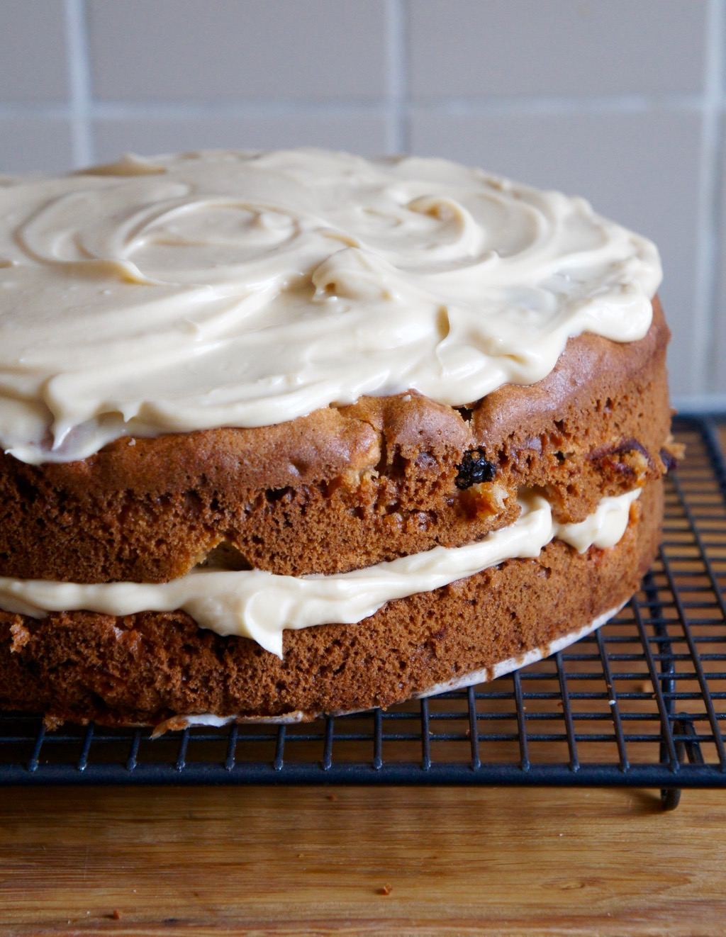 Ottolenghi Apple & Olive Oil Cake with Maple Icing